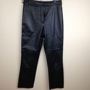 Wilson Black Leather Pants 8